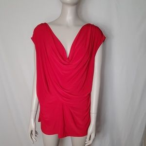 Vince Camuto Flowy Red Top